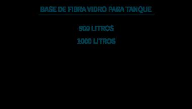 base fibra para tanque