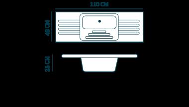 medidas pileta lavadero fibraindustria doble con mesada